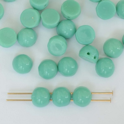Cabochon Czechmates 7mm Green Turquoise Green Beads 63140 x 5g