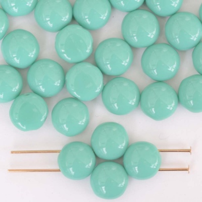 Candy Green Turquoise 63130 Czech Glass Bead x 25