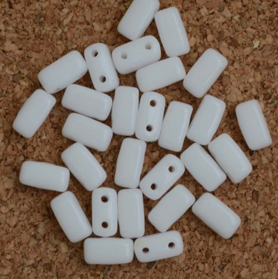Brick White Chalk White 03000 Czech Mates Beads x 50